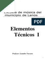 Cuadernillo Elementos Tenicos de La Musica I