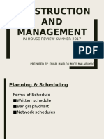 Construction and Management Review