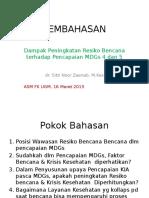 Sesi 1 Zaenab PEMBAHASAN Seminar Bencana-MDG 4-5
