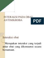 Interaksi Pada Obat Antimikroba