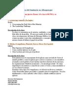 Descripcion de La Clase en Albuquerqu Primavera 2010