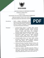 Permenkes 64 Th 2015 Tentang Struktur Organisasi Dan Tata Kerja Kementerian Kesehatan