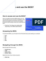 How to Access and Use the Bios 31995 n40ovf