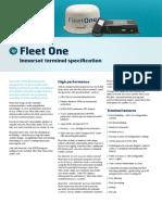 Inmarsat Fleet One Technical Specification Sheet July 2014