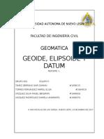GEOIDE ELEPSOIDE Y DATUM