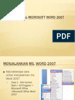 01. Mengenal Wm. Word 2007
