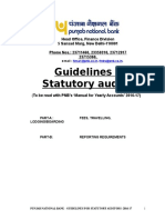 Guidelines to Statutory Auditors