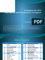 Companies Act 2013 - Key Aspects and Procedures for Foreigners