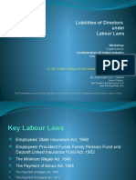 Liability of Directors under Labor Laws of India