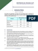 Indicative Rates