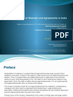 Interpretation of Statutes and Agreements in India