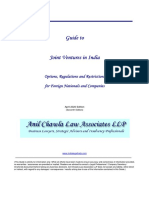 Guide to Joint Ventures in India - Options, Regulations and Restrictions for Foreign Companies