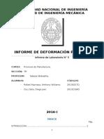 Informe de Deformación Plastica