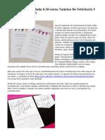 Convidaciones De Boda 0.50  euros Tarjetas De Felicitacin Y Comunicacin Social