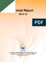 CPCB AnnualReport 2014 15