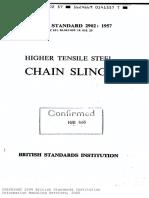 Bs 2902-Higher Tensile Steel Chain Slings