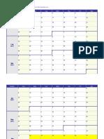 2017 Weekly Calendar