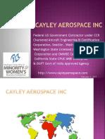 Cayley Aerospace Capabilities October 2016