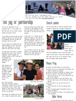 November 2009 Sholla Newsletter Missionary Project - Monterrey, Mexico
