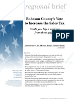 Robeson County's Vote to Increase the Sales Tax