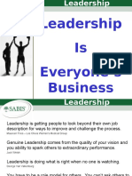 Leadership is Everyone's Business