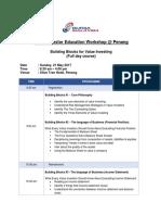 Bursa Investor Education Workshop BIEW Penang BUILDING BLOCKS for VALUE INVESTING Full Day Course