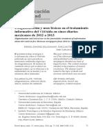 Estigmatización y Usos Léxicos en El Tratamiento Informativo Del Vihsida en Cinco Diarios Mexicanos de 2012 a 2013