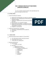 Estructura y Redacción de Actuaciones Jurisdiccionales