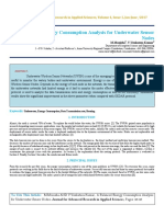 IAETSD-JARAS-A Balanced Energy Consumption Analysis for Underwater Sensor Nodes