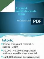 Curs 4- Transplantul de Celule Stem