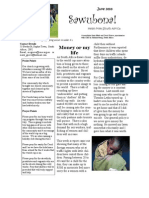 June 2010 Sawubona Newsletter Grieve Missionary Project, South Africa