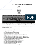 Application for Ordinary Diploma Admissions for the Year 2017-2018