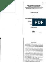 MRE 1992 Acuerdos y Convenios Culturales Suscritos Por Venezuela (Vigentes)
