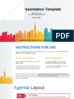 City Buildings Silhouettes Colors Google Slides Presentation