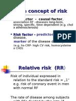 The Concept of Risk, Standard RF for CVD