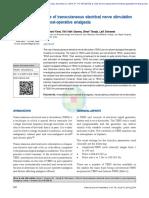 Role of TEN in Post Op Analgesia