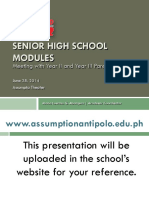 Meeting With Parents - Senior High School Modules for Year III and Year IV