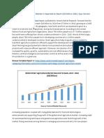 Global Smart Agriculture Market Global Scenario, Market Size, Outlook, Trend and Forecast, 2015-2024