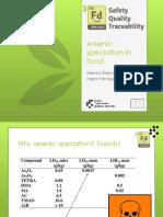 Speciation of Arsenic
