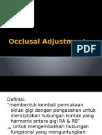 Occlusal Adjustment