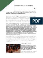 A Música Brasileira e a Censura Da Ditadura Militar