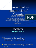 Approached in Diagnosis of Anemia