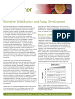 Biomarker Identification Assay and Development