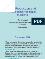 Milk Production and Processing for Halal Markets