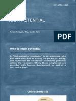 Presentation for High Potential