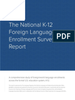 National K-12 Foreign Language Enrollment Survey Report