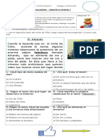 EVALUACION UNIDAD 1 LENGUAJE Y COM. 2° BASICO 26-04-17
