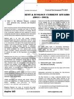 Environment - Current Affairs 2015 - Aspire IAS Academy[Shashidthakur23.Wordpress.com]