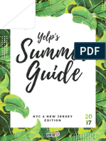 Yelp NYC Summer Guide 2017