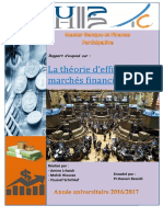 Rapport d'Efficience Des Marchés Financiers